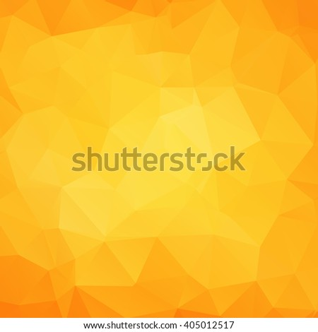 Abstract geometric juice triangle background. Vector illustration for polygonal design. Fun sumava pattern. Triangle layout wallpaper. Yellow, orange colors. Funny geometric yellow crystal texture.