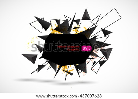 Abstract geometric lines modern grunge vector background - stock vector