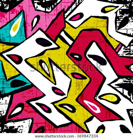 abstract geometric objects graffiti grunge effect