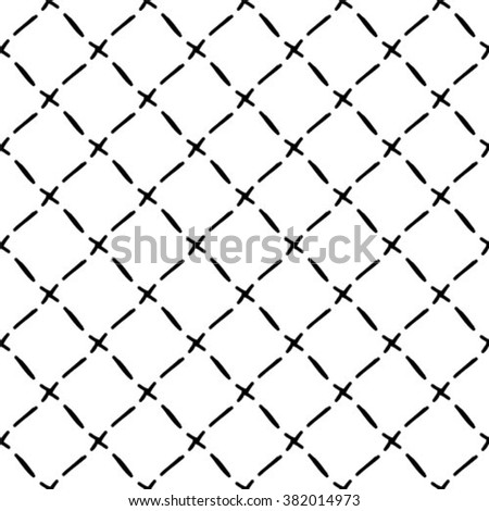 Abstract geometric pattern. A seamless vector background. Black and white texture.