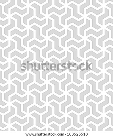 Abstract geometric pattern. A seamless vector background. Gray and white texture. - stock vector