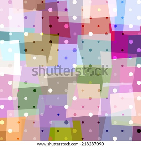 abstract geometric pattern background, with circles and trapeze - stock vector