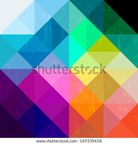 abstract geometric pattern background, with triangles/squares and splashes