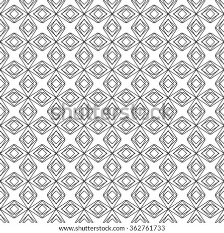 Abstract geometric pattern. Black and white texture. A seamless vector background.