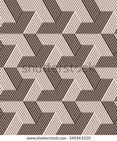 Abstract geometric pattern by lines . A seamless vector  background. - stock vector