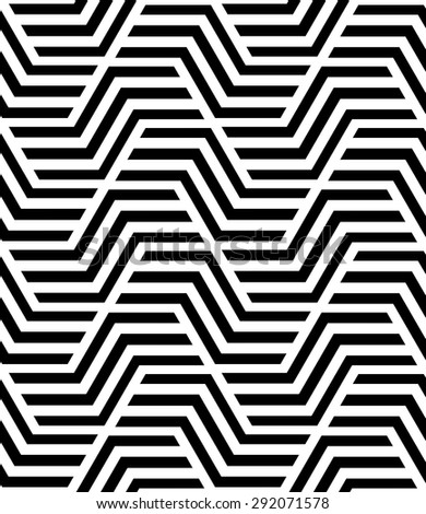 Abstract geometric pattern by stripes, lines. A seamless vector background. Black and white texture