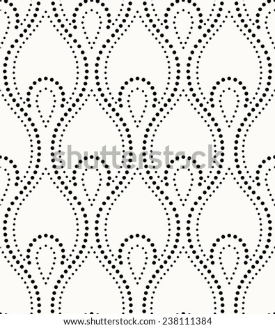 Abstract geometric pattern by the points. A seamless vector background. Gray and white texture.