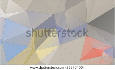 Abstract geometric pattern composed of triangular polygons