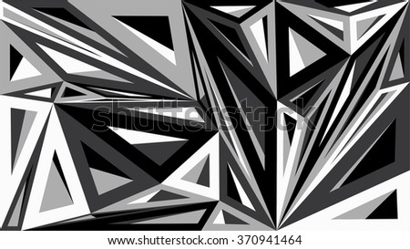 Abstract geometric pattern consisting of triangles of different sizes and colors