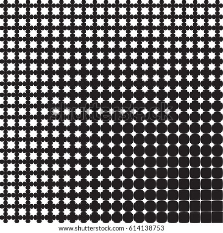 Abstract geometric pattern from figures of different sizes, halftone