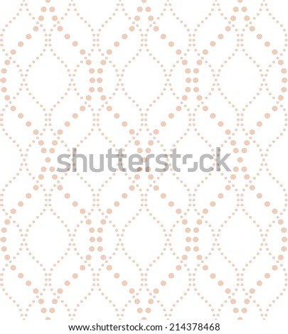 Abstract geometric pattern of the points. A seamless vector background. - stock vector