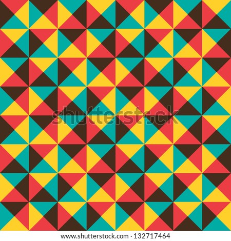 Abstract geometric pattern. Retro triangle background.