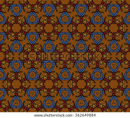 Abstract Geometric Pattern. Vector Illustration. Ornamental background, which can be replicated