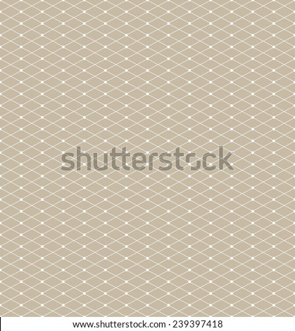 Abstract geometric pattern with rhombuses and points. Repeating seamless vector background. - stock vector