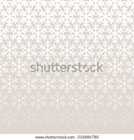 Abstract geometric pattern with snowflakes Repeating seamless background - stock vector