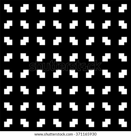 Abstract geometric pattern with squares, monochrome pattern - stock vector