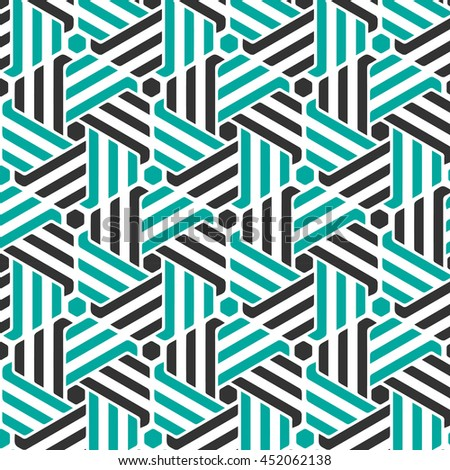Abstract geometric pattern with stripes, lines. - stock vector