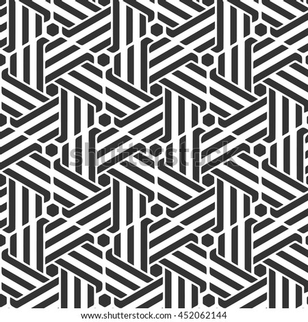 Abstract geometric pattern with stripes, lines.