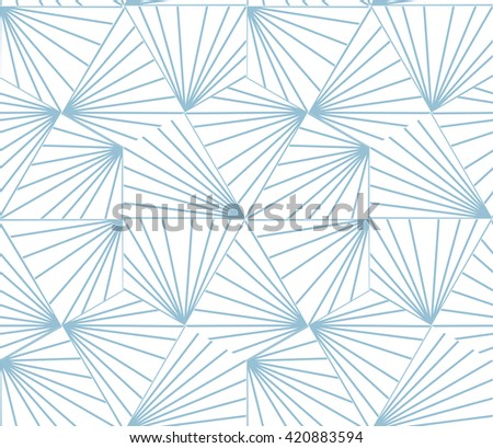 Abstract geometric pattern with stripes, lines. A seamless vector background.  Blue and white texture. - stock vector