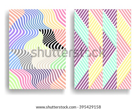 Abstract Geometric pattern with Stripes. Seamless pattern in different colors, can be used for background.Vector Illustration. - stock vector