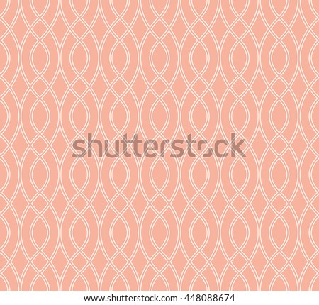 Abstract geometric pattern with wavy lines. A seamless vector background. Stylish graphic pattern. - stock vector