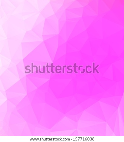Abstract geometric pink background. Multi-colored triangle template.
