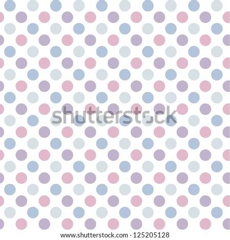 Abstract geometric retro seamless polka dot background - stock vector
