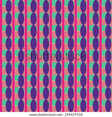 Abstract geometric retro seamless tile. Retro wallpaper texture. Vintage pattern for design uses, web and printed media. Colorful wrapping paper.