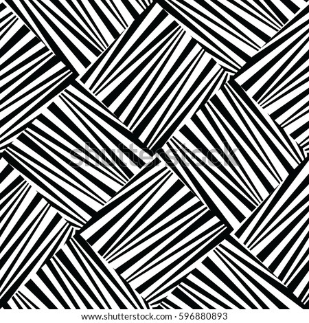 Abstract geometric seamless black and white pattern.
