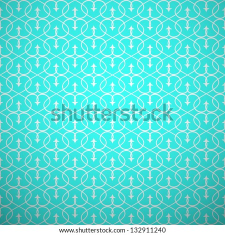 Abstract geometric seamless pattern. Aqua and white style pattern with curve and line. Vector illustration. - stock vector
