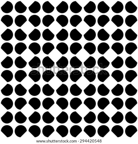 Abstract geometric seamless pattern. Black and white style pattern with circle.