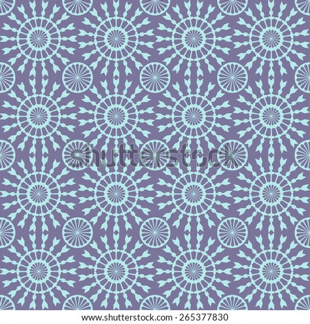 Abstract geometric seamless pattern. Blue style pattern with circle and line. Endless texture for wallpaper, fill, web page background, surface texture. - stock vector