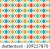 Abstract geometric seamless pattern. Colorful pattern with circle and line. - stock vector
