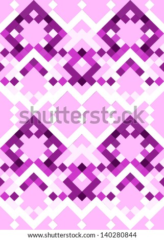 Abstract geometric seamless pattern. Colorful pattern with line and rhombus - stock vector