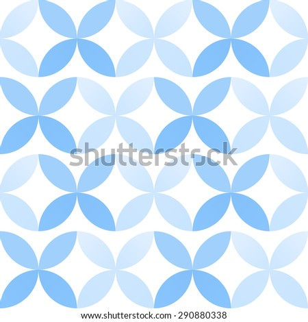 Abstract geometric seamless pattern in winter colors - stock vector