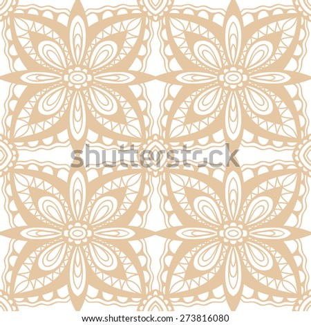 Abstract geometric seamless pattern. Islamic Arabian ornament. Tribal ethnic background, hand drawn fashion repeating texture. Vector illustration - stock vector