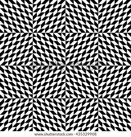 Abstract geometric seamless pattern, monochrome pattern, op art chevron pattern - stock vector