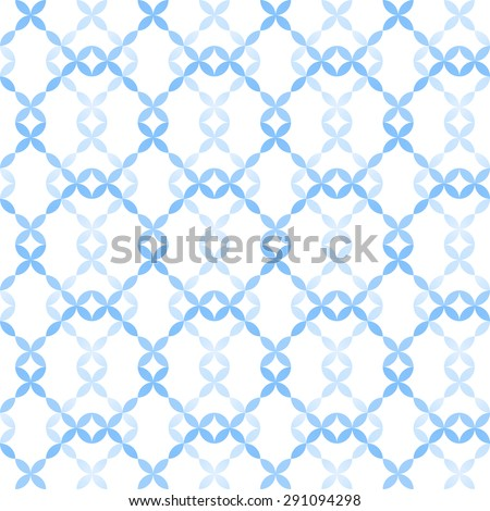Abstract geometric seamless pattern of circles in winter colors - stock vector