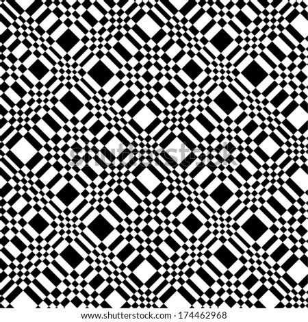 Abstract geometric seamless pattern. Optical illusion. - stock vector