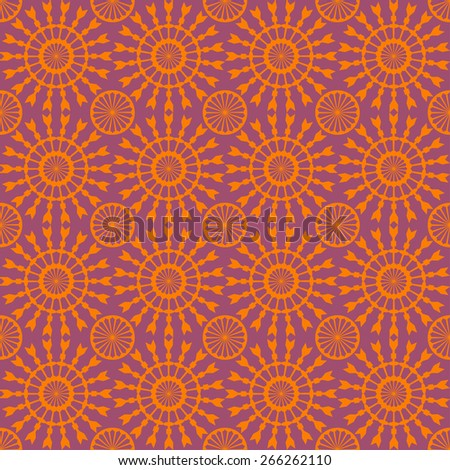 Abstract geometric seamless pattern. Orange style pattern with circle and line. Endless texture for wallpaper, fill, web page background, surface texture. - stock vector