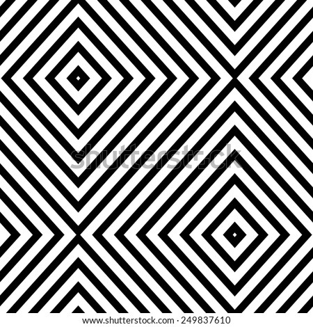 Abstract geometric seamless pattern. Simple black and white background.Vector illustration. Classic design. - stock vector