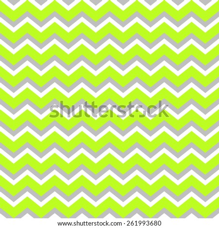 Abstract geometric seamless pattern. Simple green gray and white background.Vector illustration. Classic design. Chevron pattern. Zig zag pattern. Bright acid color. - stock vector
