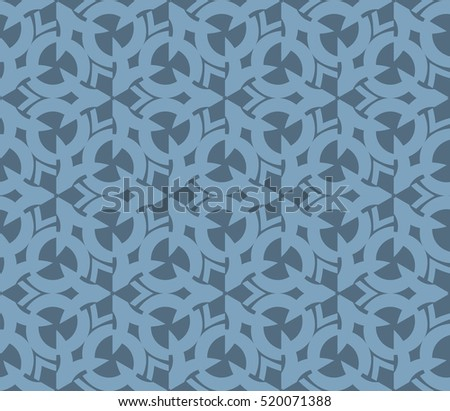 abstract geometric seamless pattern. vector. blue
