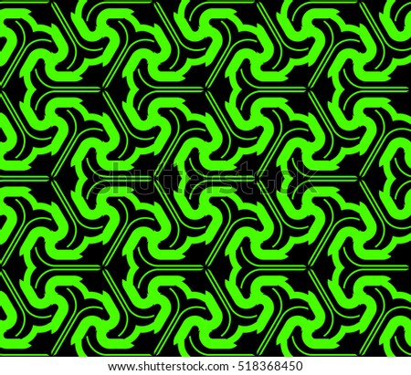 abstract geometric seamless pattern. vector. green and black. neon