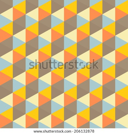 Abstract geometric seamless pattern. Vector Illustration.  Background for business presentation.  - stock vector