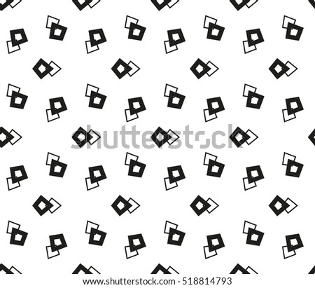 abstract geometric seamless pattern. vector. white and black