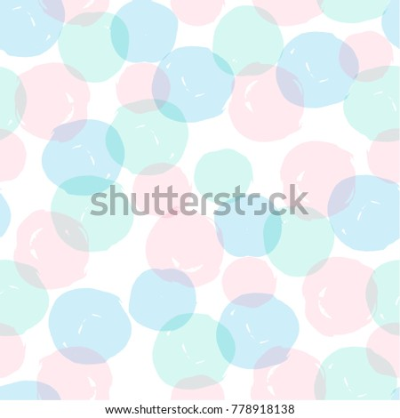 Abstract geometric seamless pattern with dots. Modern abstract design for paper, cover, fabric, interior decor and other users. Ideal for baby girl design.