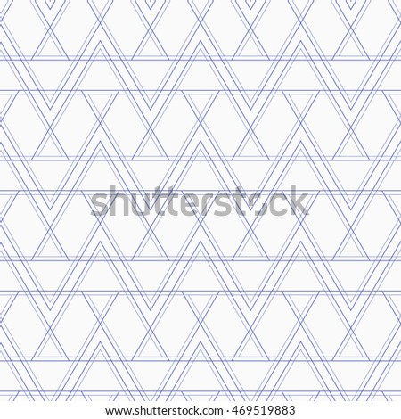 Abstract geometric seamless pattern with lines. Monochrome triangles. Vector background.