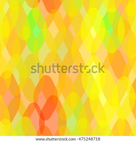Abstract geometric seamless pattern with rhombus and squama decorative  contemporary elements. orange yellow gold pink geometric print, ethnic hipster trendy backdrop. Vector