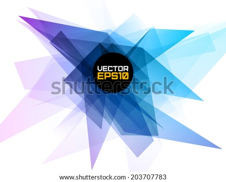Abstract geometric shape background. Vector illustration for flyers, posters, banners.